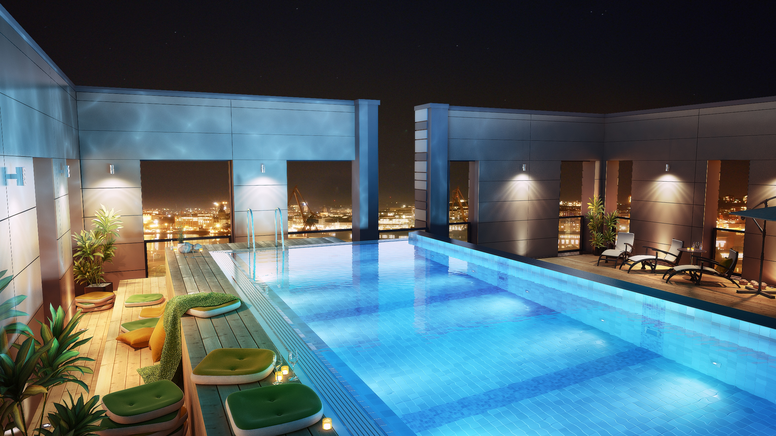 Ten of the best rooftop hotel pools aol travel uk for Rooftop swimming pool designing and planning
