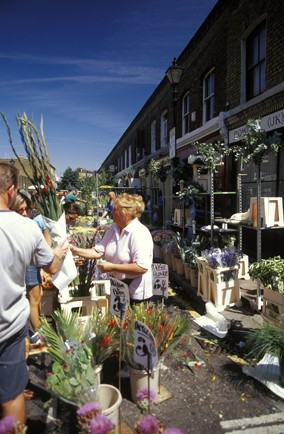 See the wonderful blooms at Columbia Road Market