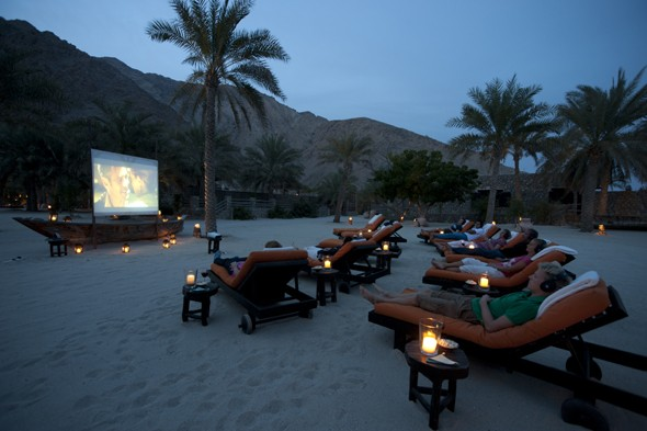 Coolest hotel movie screens