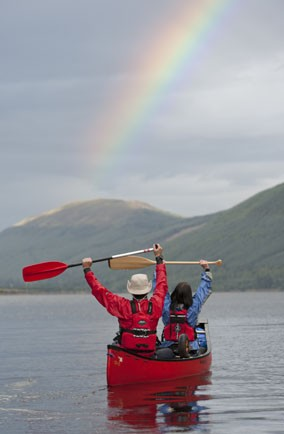Explore Scotland's lochs in a canoe