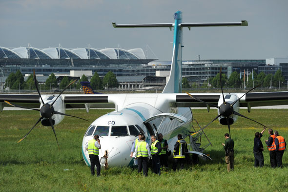 Munich passenger plane emergency landing slips off runway, injuring five