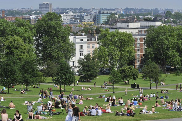 Take a stroll in Primrose Hill, London