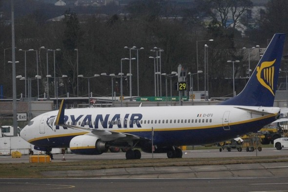 Ryanair flight attendant hospitalised after falling three metres from plane at take-off