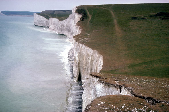These white cliffs peak and dip seven times. What are their names and where can you find them?