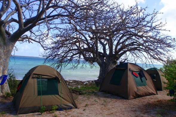 Island Dhow Safari tents, Mozambique