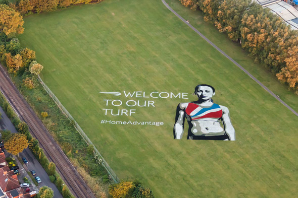 BA welcomes fans to Olympics with huge artwork of Jessica Ennis