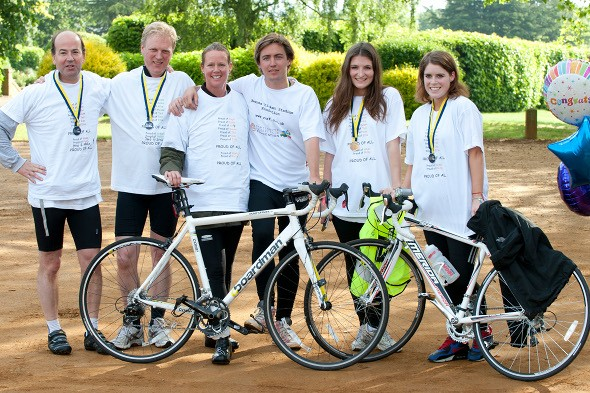 Princess Eugenie completes 63 mile overnight charity bike ride