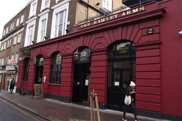 Have a pint at the Hawley Arms, London