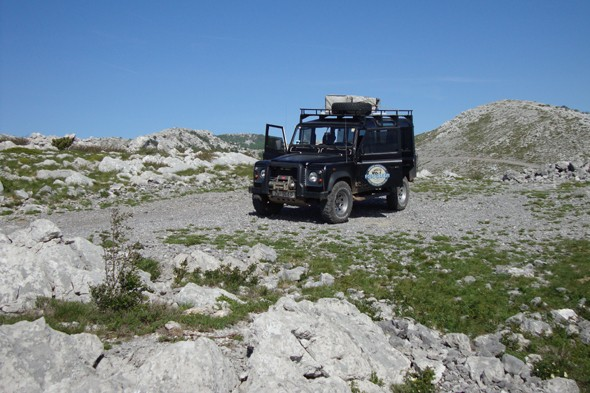 Go off road in Velebit on a Jeep safari