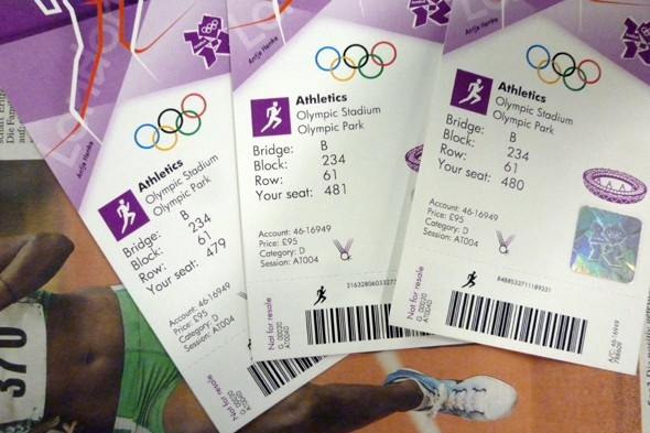 of its Olympic ticket and