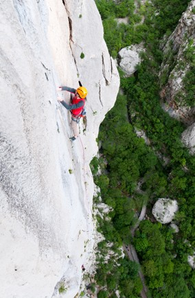 Go extreme climbing in the Paklenica National Park