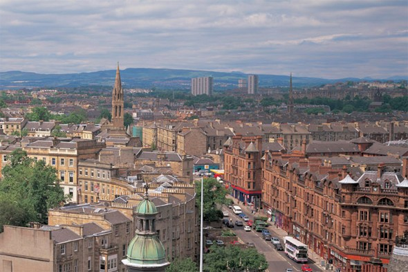 Visit the trendy bits of Glasgow