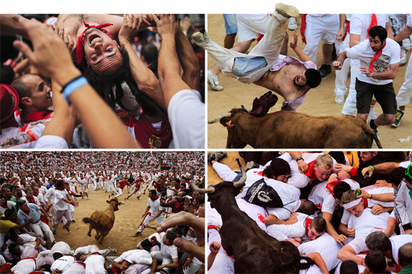 Two British tourists gored in Pamplona's Running of the Bulls festival