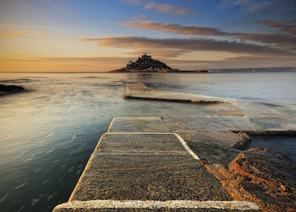 St Michael's Mount, Cornwall, at dawn