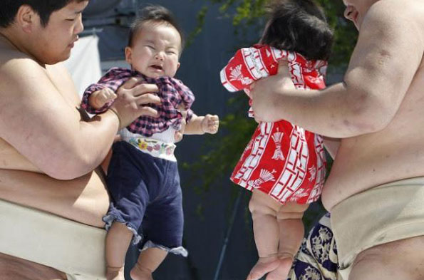 Baby crying festival, Japan