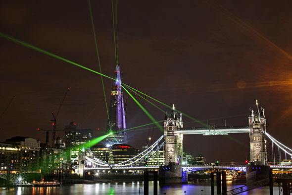 Watch London Lights Up As The Shard Opens Aol Uk Travel
