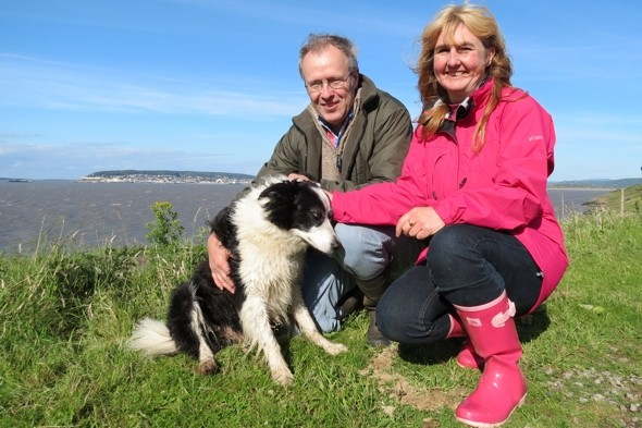 Coastguard abseil cliff to save terrified dog