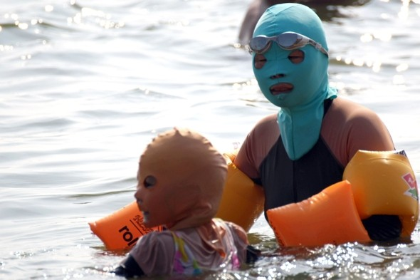 Would you wear a face-kini to the beach? Creepy craze taking off