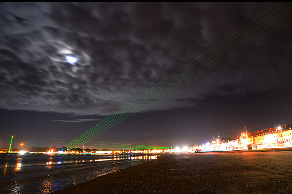 Laser show at Weymouth beach