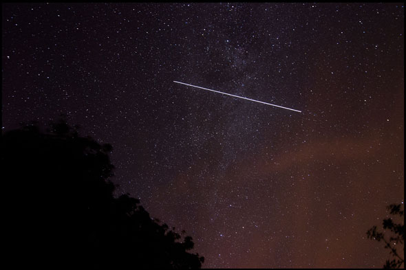 The International Space Station satellite, Charmouth, Dorset