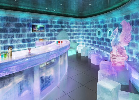 Chill out in an ice bar