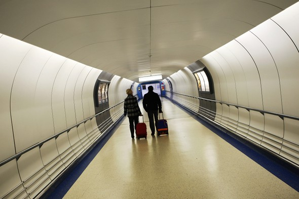 Gatwick travellers walk 1.2 miles to board flights