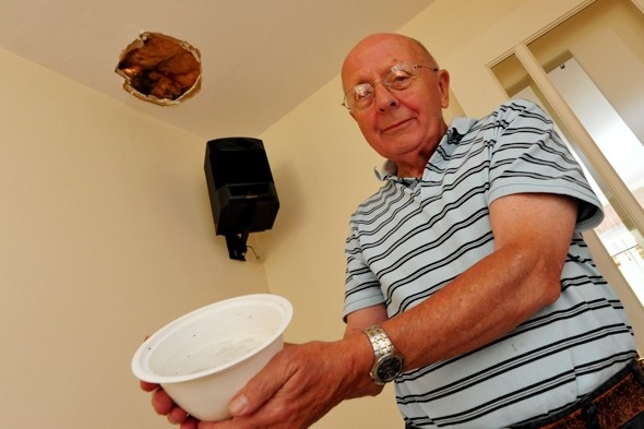 Ball of ice from passenger plane crashes through couple's roof