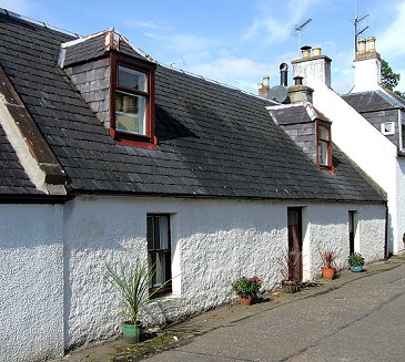 A fisherman's cottage in the Scottish Highlands