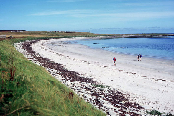 A beach at Papa Westray, Orkney Islands, Scotland