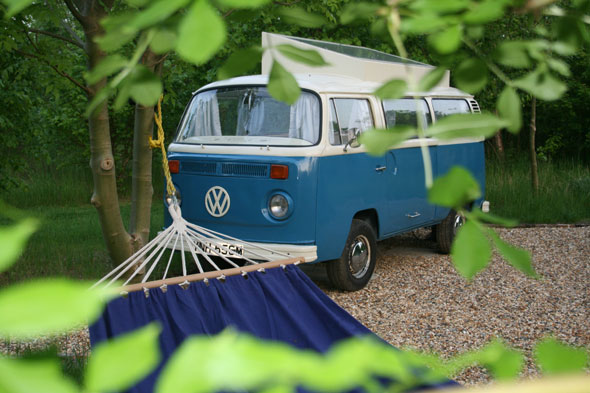 Settle into a converted camper van in Hertfordshire