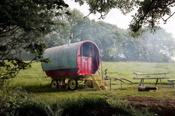 Stay in a vintage caravan in Devon