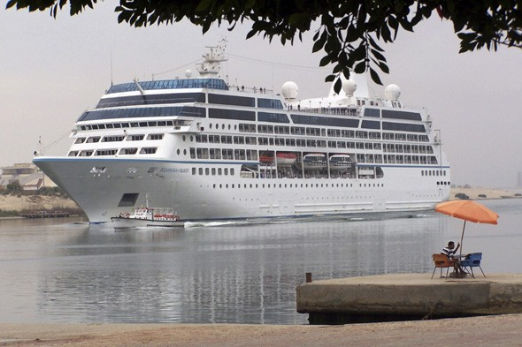 Cruise ships cancel stops at Egypt ports as protests heat up