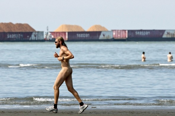 Nudists seek 'anti-ogling' ban at favourite beach