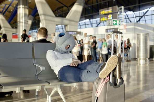 Would you wear this pillow on your head at the airport?