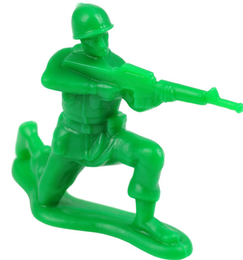 The passenger who bought a toy soldier