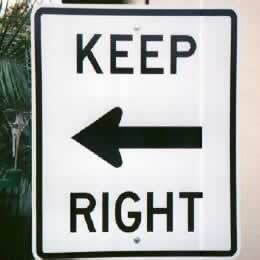 Keep right - or left?