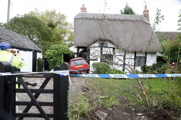 Car crashes into cottage while couple on holiday - and is now propping it up