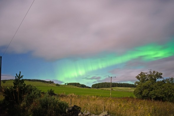 Amazing Northern Lights display captured over Scotland