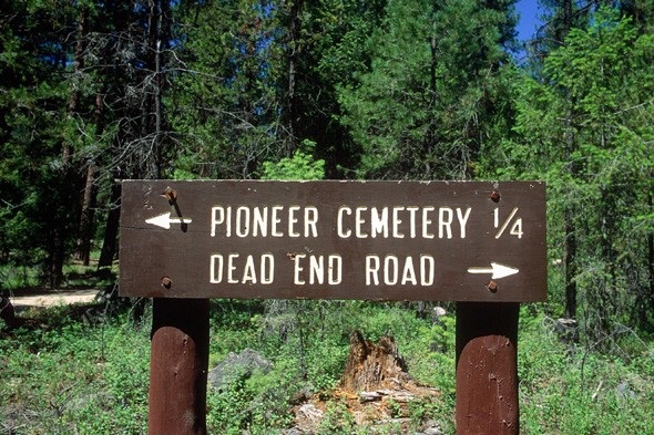 To the cemetery? Or a dead end?