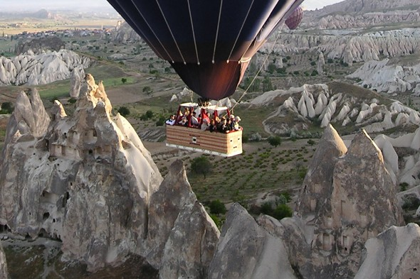 See the fairy chimneys of Cappadocia from the sky
