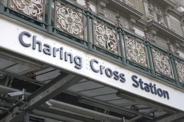 Woman in hospital after falling off platform as train leaves Charing Cross station