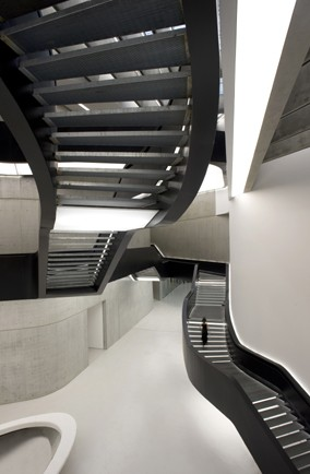 Maxxi - National Museum of the 21st Century Arts' cutting-edge steps, Rome