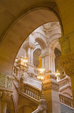 The Million Dollar Staircase at the New York State Capitol, USA