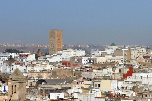 The modern capital and historic city of Rabat, Morocco