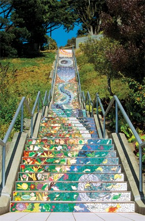 The 16th Avenue Tiles Steps, San Francisco