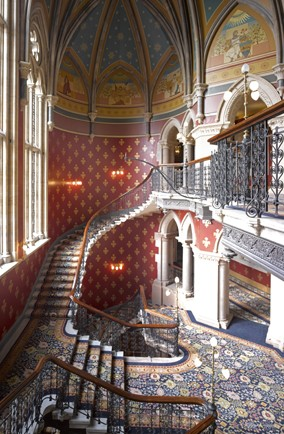 St Pancras Renaissance London Hotel's Grand Staircase, UK