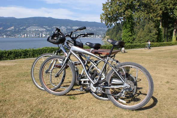 Hire a bike and head to Stanley Park.