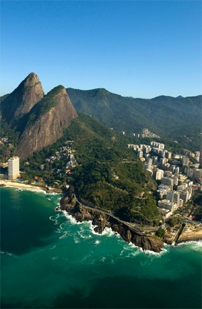 Rio de Janeiro's Carioca landscapes between the mountain and the sea, Brazil