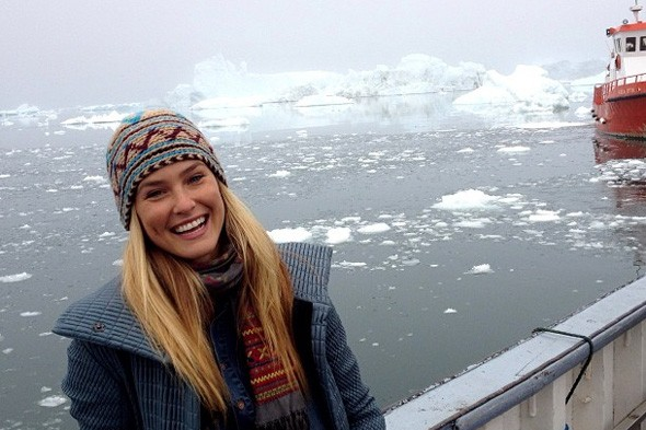 Supermodel Bar Rafaeli heads for icier climes on holiday in Greenland
