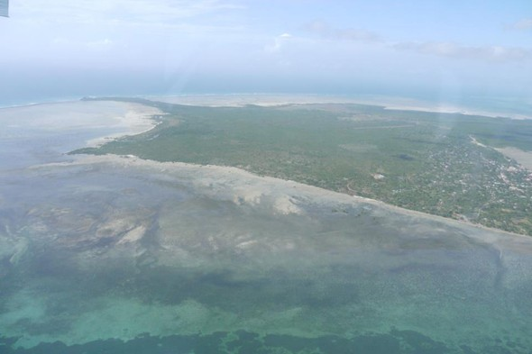 Flying over Quirimbas archipelago, Mozambique